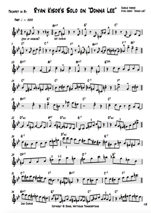 Jazz trumpet transcriptions, jazz, how to play jazz