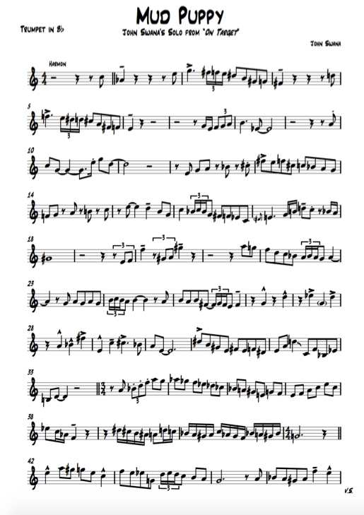 Jazz trumpet transcriptions, jazz, how to play jazz